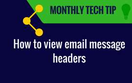 Monthly Tech Tip