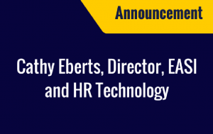 Cathy Eberts, Director, EASI and HR Technology
