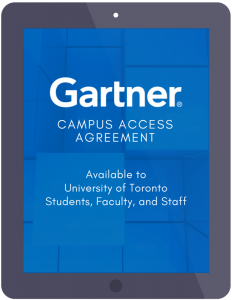 gartner research is now available at gartner utoronto ca its