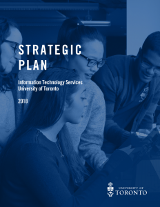 ITS Strategic Plan Cover image